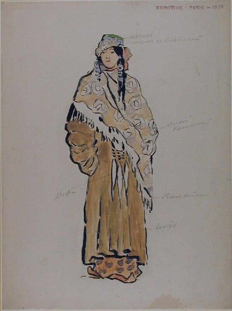 Design for the Costume of Zemphira in Rachmaninov's Opera 'Aleco'