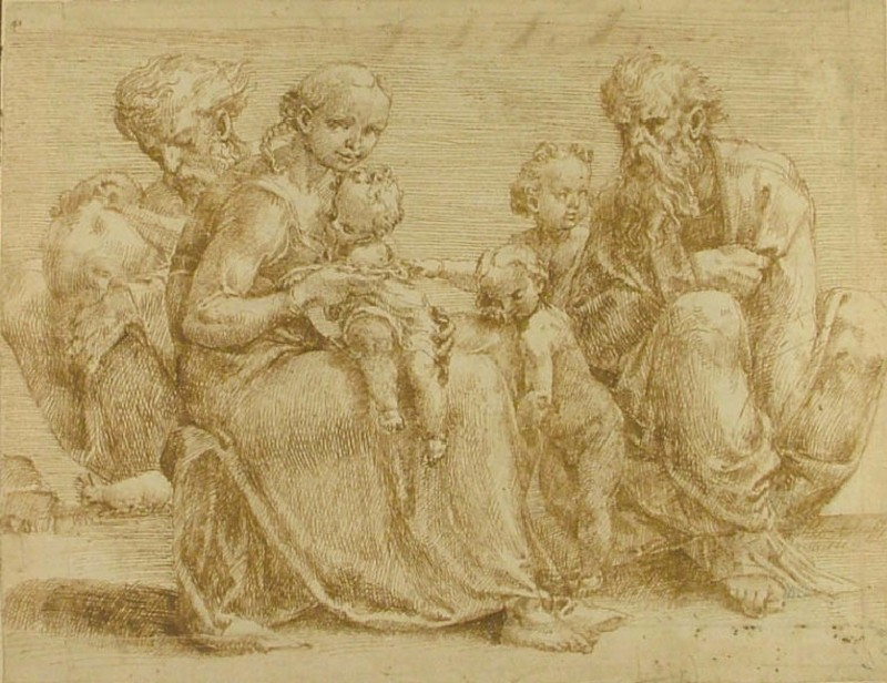 Recto: Family Group<br />Verso: Various Figure Studies