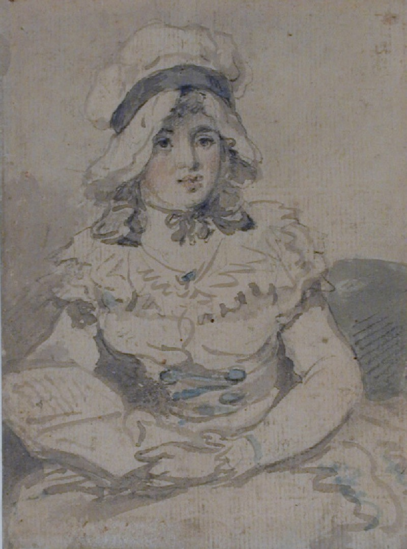 Recto: Young Lady Holding a Book