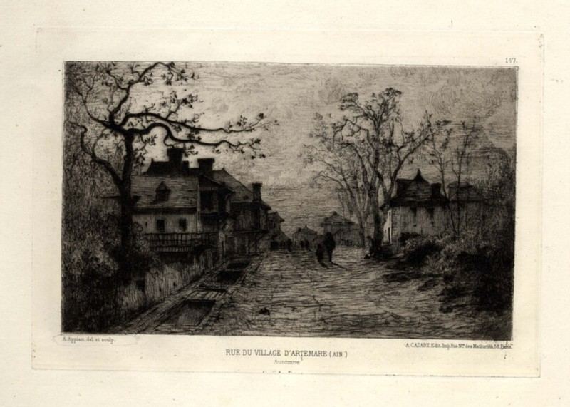 Rue du Village d'Artemare (Ain) (WA1964.75.1596, record shot)