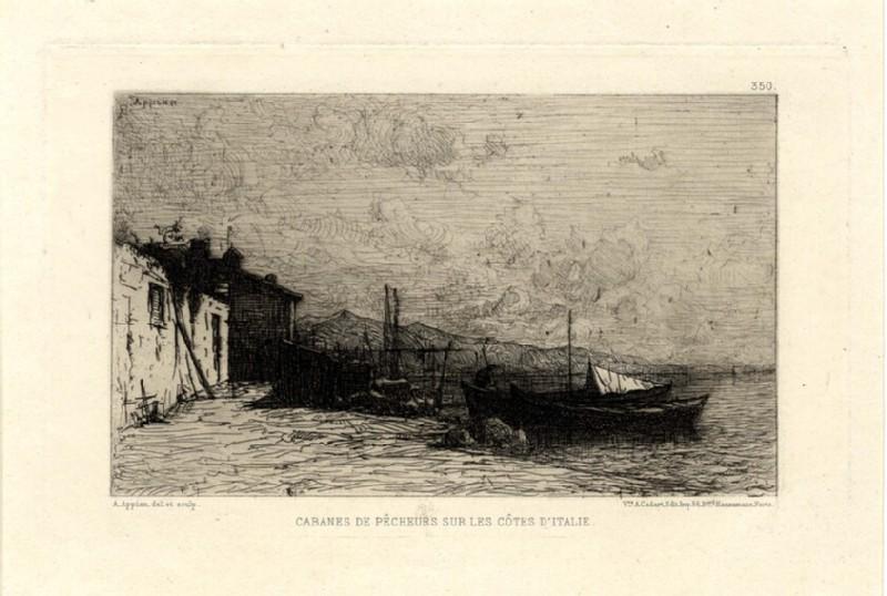Cabanes de Pêcheurs sur les Côtes d'Italie (WA1964.75.1599, record shot)