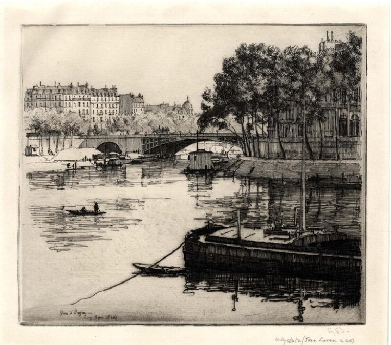 Le Quai d'Anjou, Paris (WA1964.75.1601, record shot)