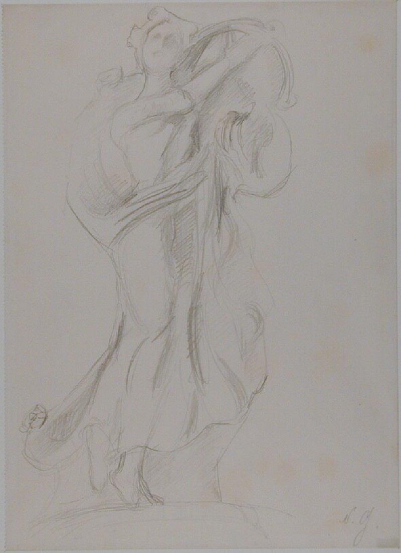 Sketch of a Statuette of a Woman dancing