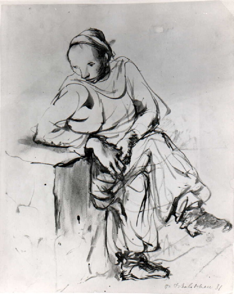 Study of a seated Woman (WA1968.41, record shot)