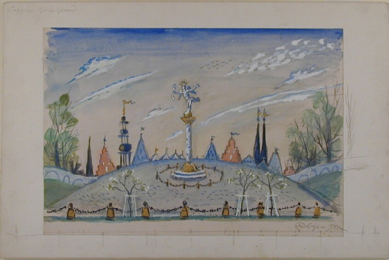 Design for a backdrop in 'Coppélia'