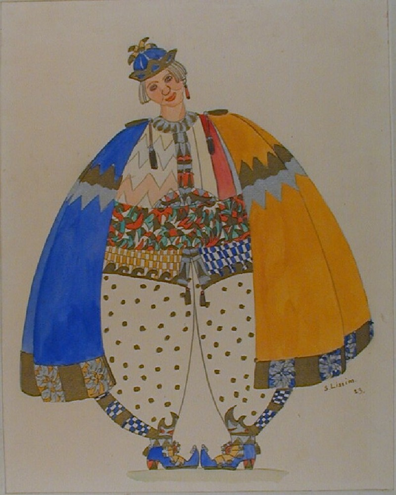 Design for a Costume for 'The Happiness of Being Rich' in Maeterlinck's 'Blue Bird'