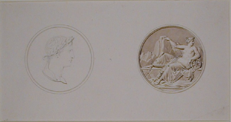 Design for obverse and reverse of a Napoleonic medal