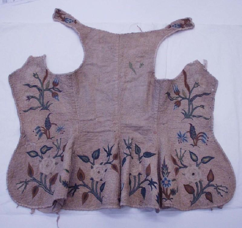 Woman's embroidered bodice (WA1990.45, record shot)