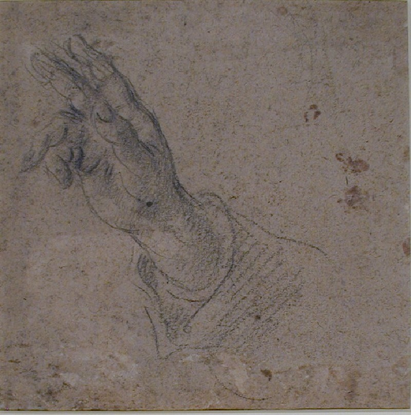 Recto: Hand and part of a Sleeve<br />Verso: Bearded Head