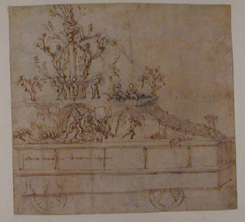 Design for a festive Chariot with the Triumph of Venus