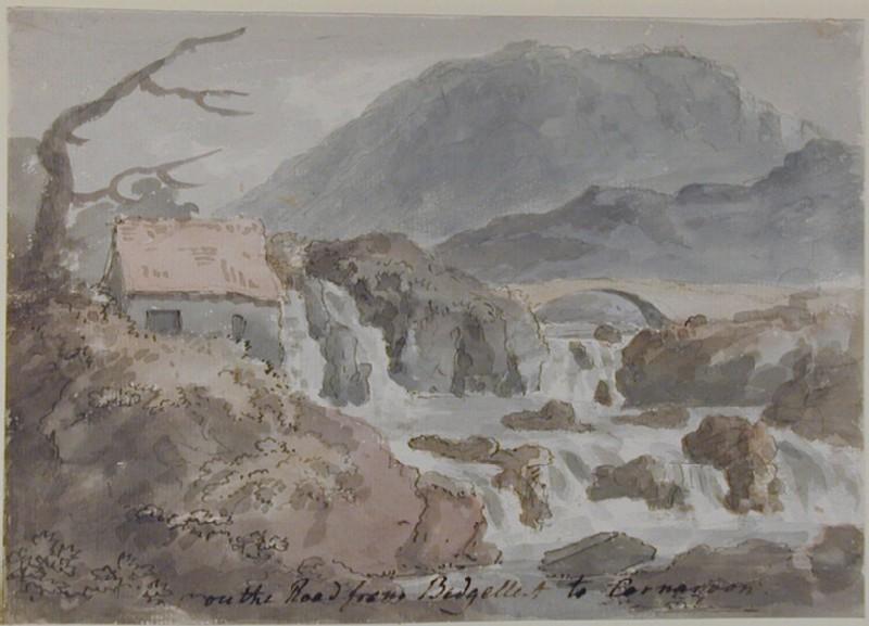 View on the Road to Caernarvon from Beddgelert