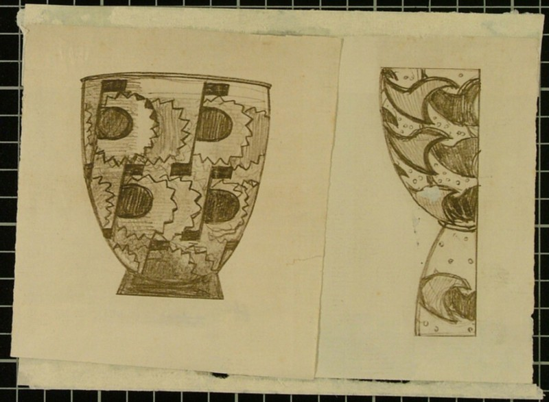 Design for a high-waisted vase (WA1999.508, record shot)
