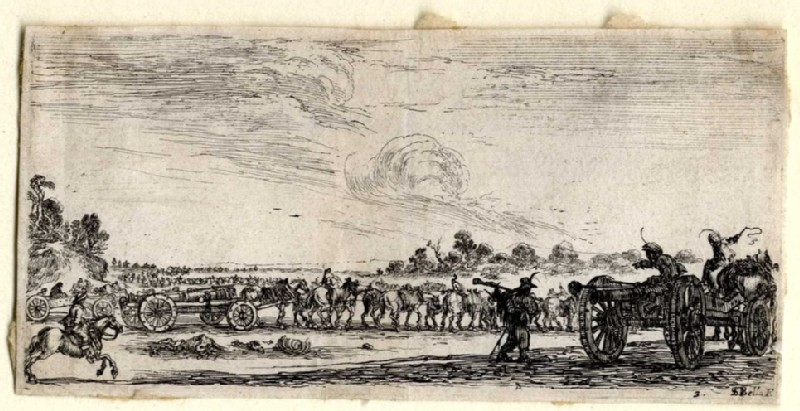 Plate 3 showing a procession of cannons