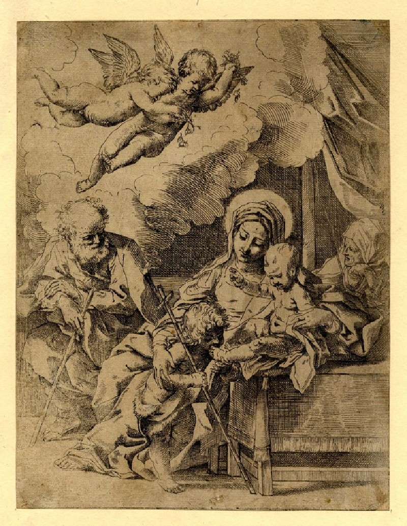 The Sacred Family with St John the Baptist and St Elisabeth