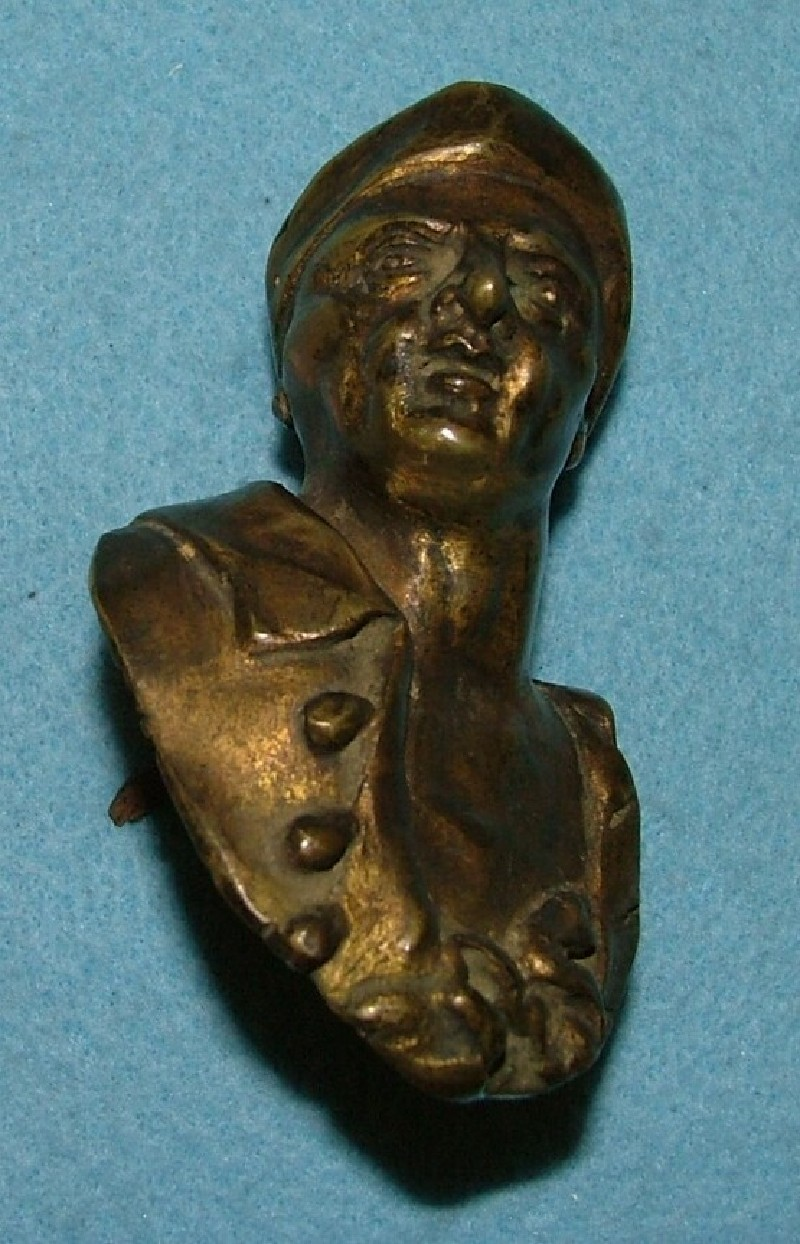 Door handle in the form of a male bust portrait `en négligé'