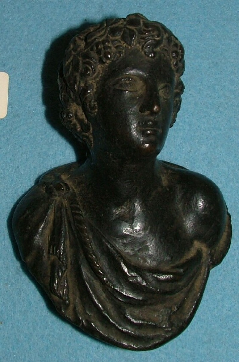 Door handle in the form of a bust of Bacchus (WA1889.CDEF.B1062, record shot)