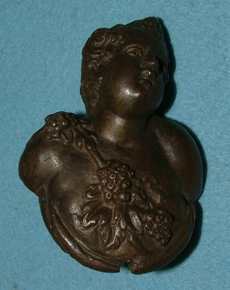 Door handle in the form of a male bacchic bust (companion with 189) (WA1889.CDEF.B1071, record shot)