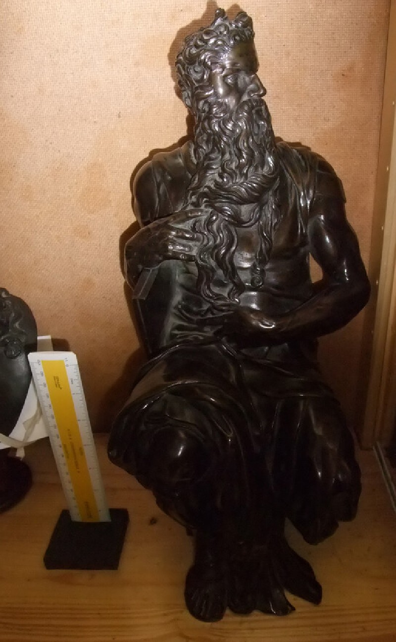 Moses seated, copy after Michelangelo (WA1889.CDEF.B441, record shot)