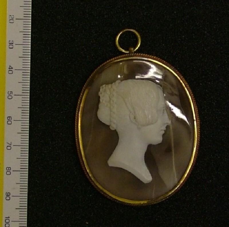 Cameo of Mrs Fortnum (Fanny Matilda Keats)