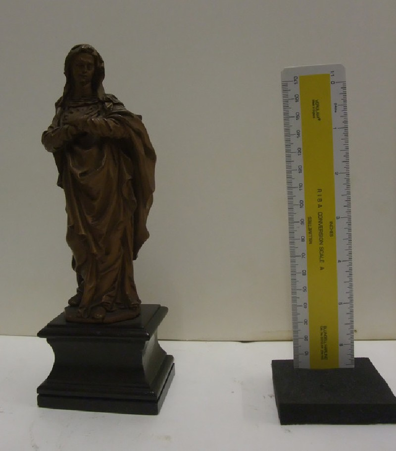 Virgin Mary with her hands crossed on her breast (WA1915.58, record shot)