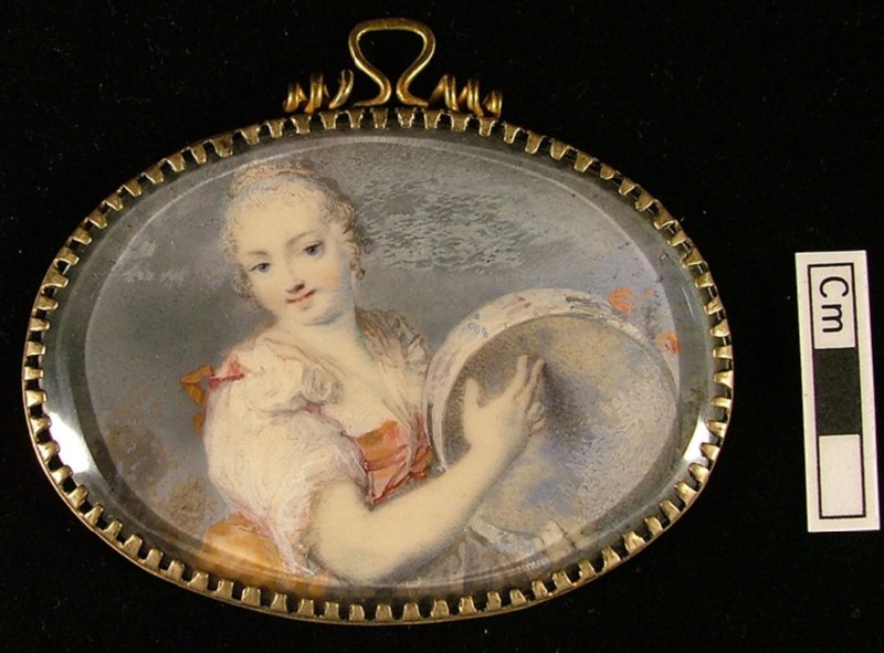 Portrait of a Young Woman with Tambourine