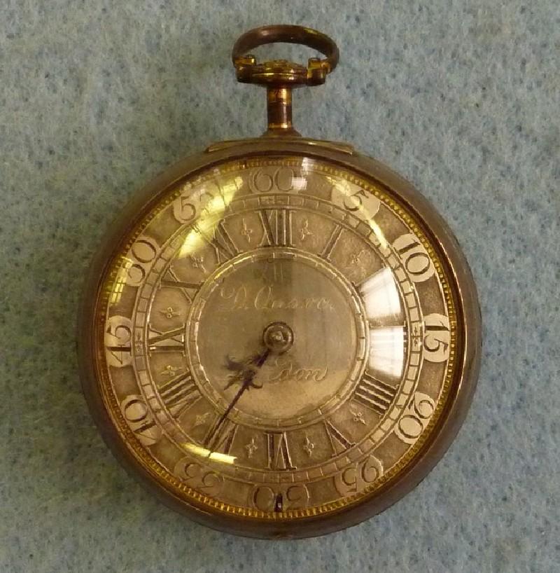 Silver cased verge clock-watch