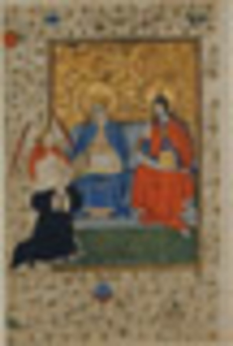 Donor page from a Book of Hours