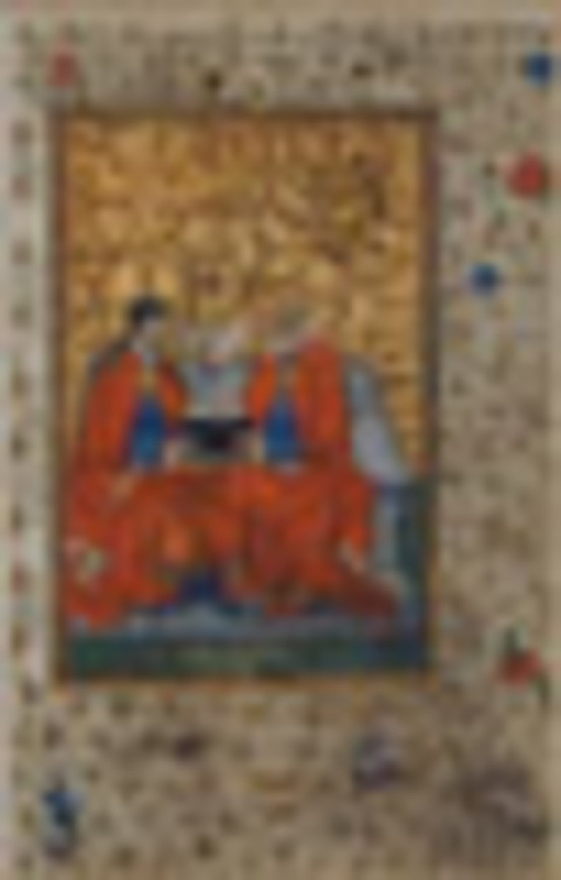 The Holy Trinity, from a Book of Hours (WA1954.156, record shot)