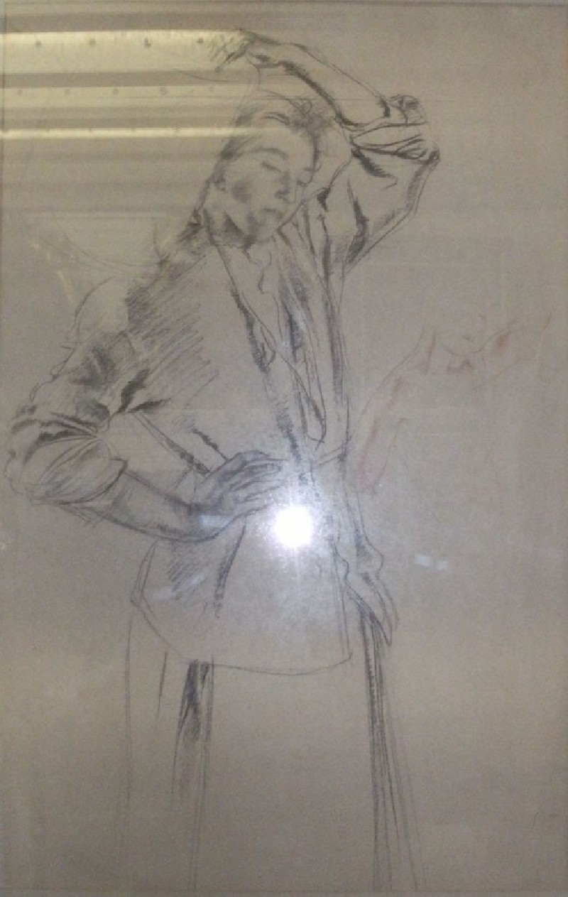 Studies of a Woman carrying a Pitcher (WA1957.99, record shot)