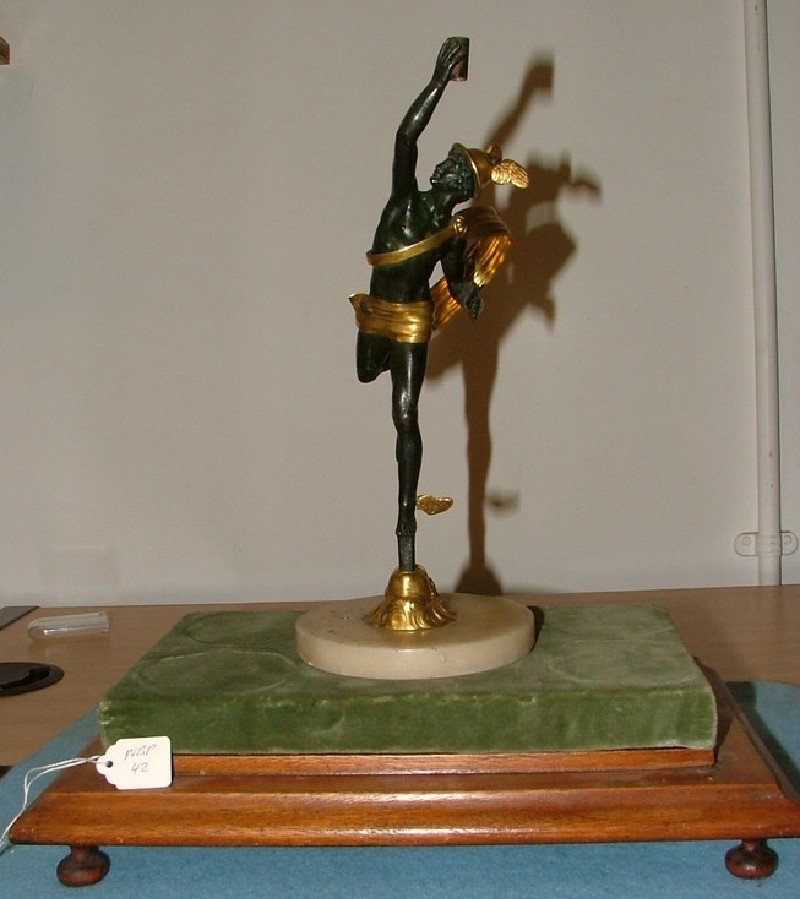 Candlestand in the form of Mercury flying