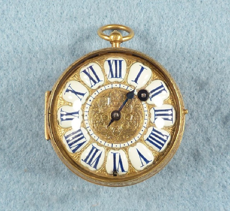 Gilt-brass cased verge watch (WA1962.35.18, record shot)