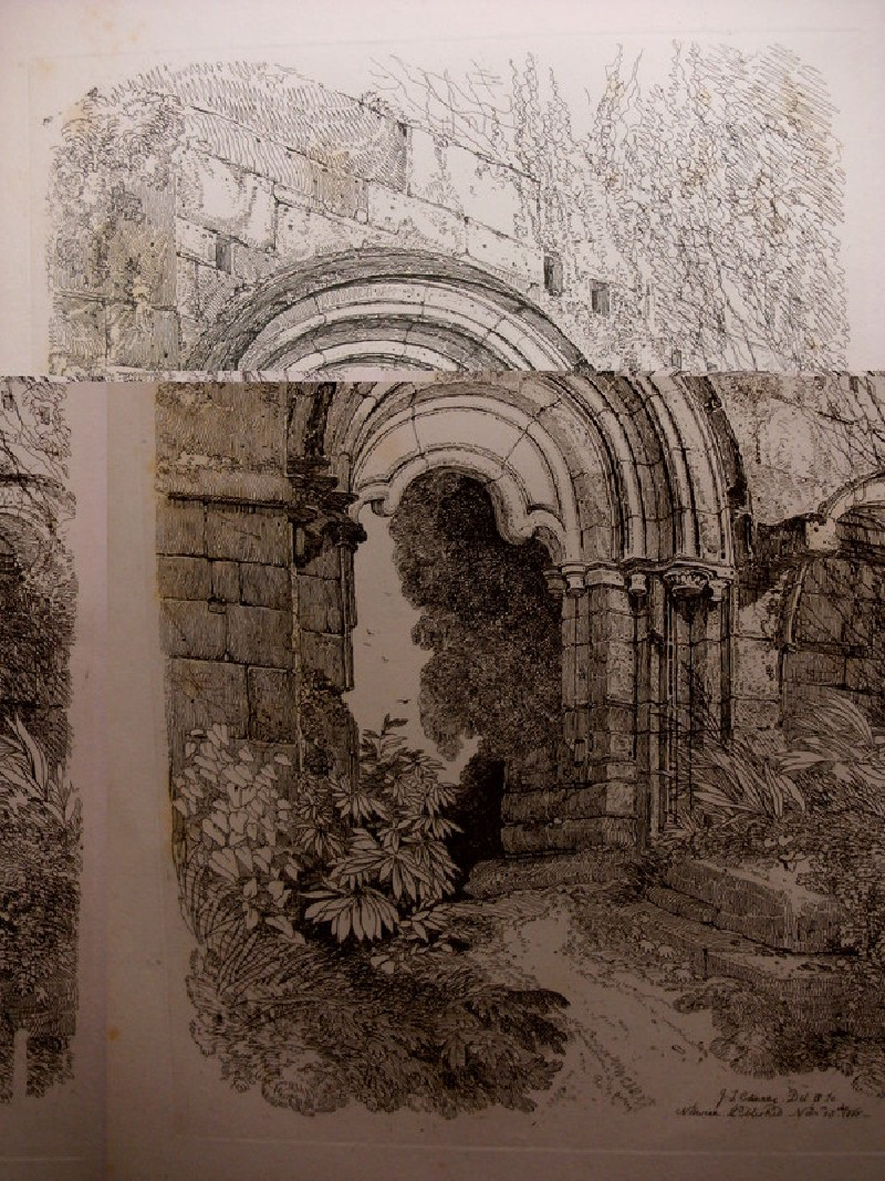 A doorway leading to the refectory of Rivaulx Abbey, Yorkshire