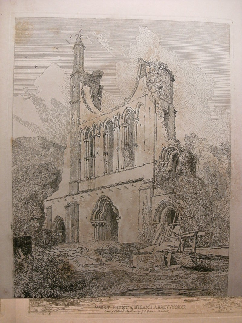 West front of Byland Abbey, Yorkshire