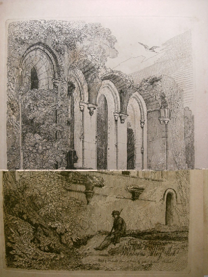 Part of the refectory of Fountains Abbey, Yorkshire (WA1989.66.19, record shot)