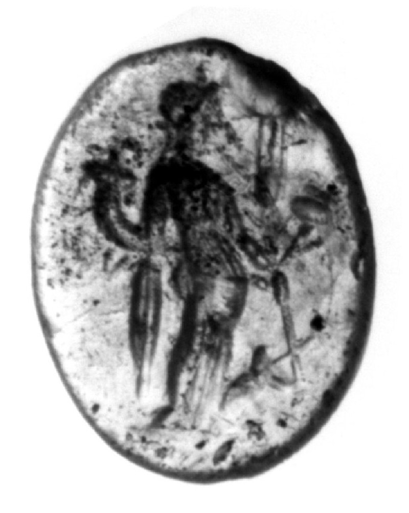 Intaglio gem, Tyche (AN1910.97.m, record shot)