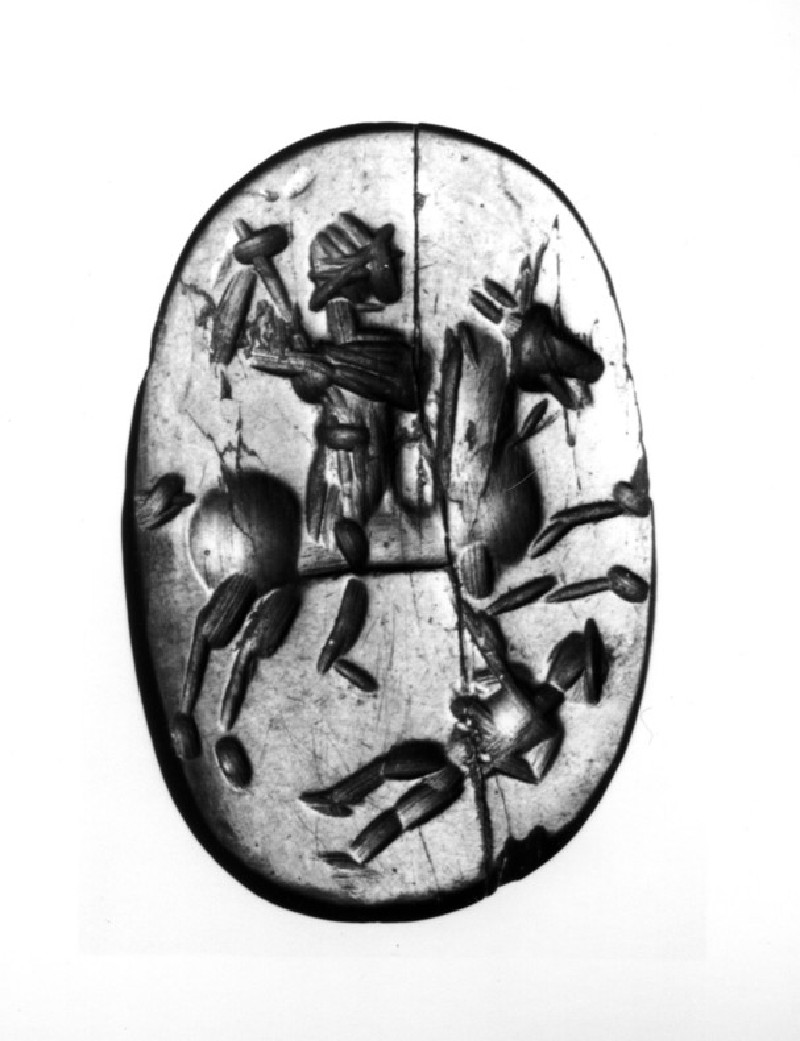 Magical intaglio depicting a cavalier (AN1941.26, record shot)