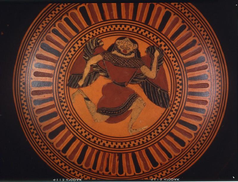 Attic black-figure pottery stemmed cup
