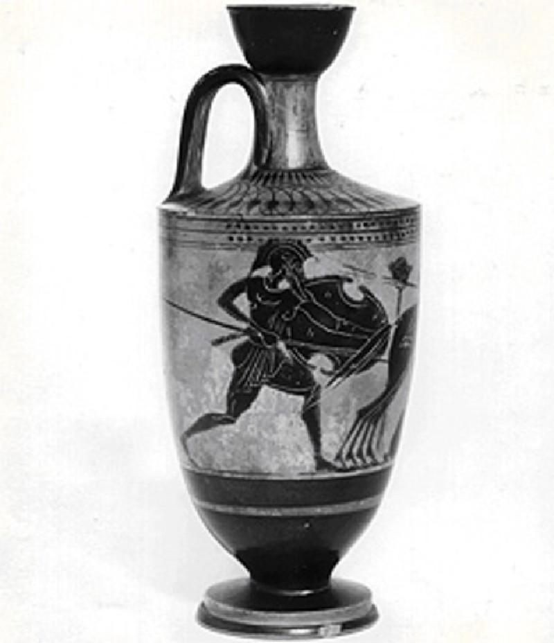 Attic black-figure lekythos depicting a mythological scene