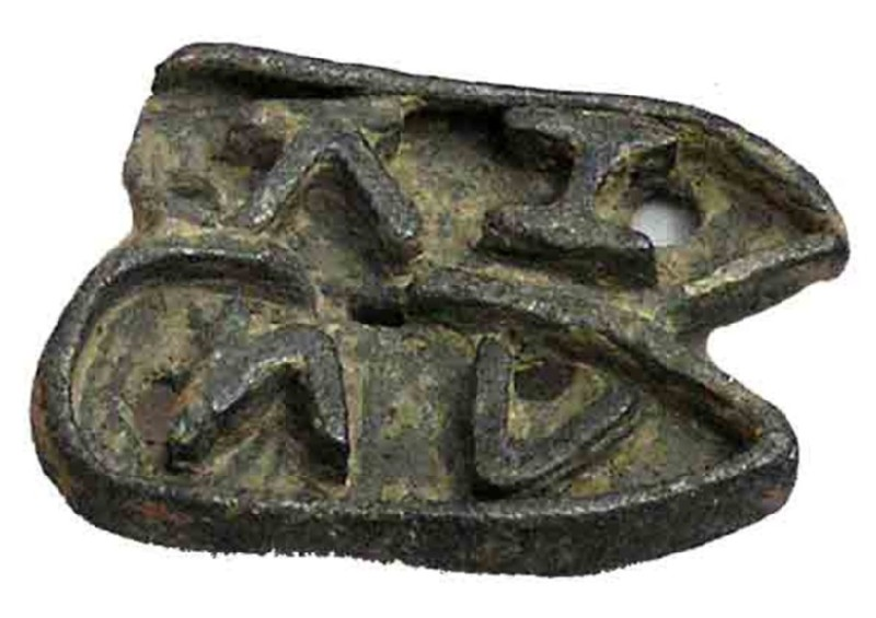 Pottery stamp with Greek inscription