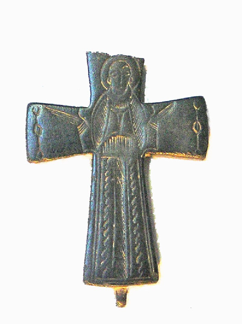 Greek cross with full length figure of a saint on face (AN1885.93, AN.1885.93, record shot)