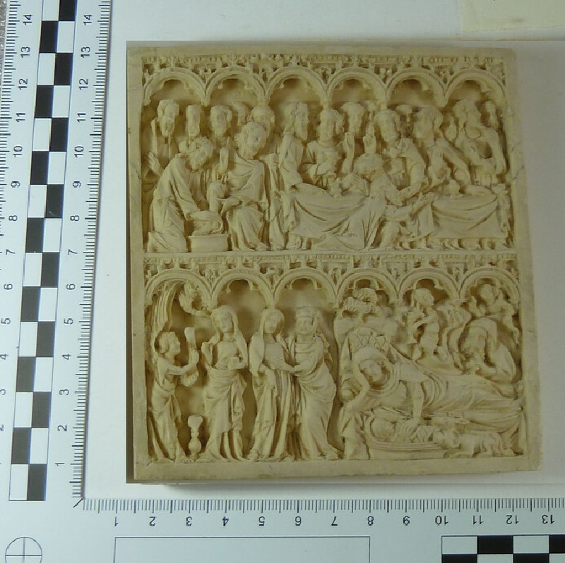 Plaster cast of ivory relief from diptych