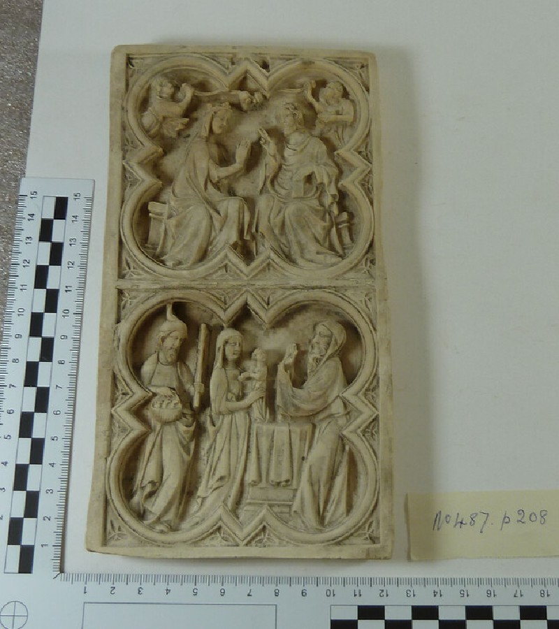 Plaster cast of carved ivory devotional tablet