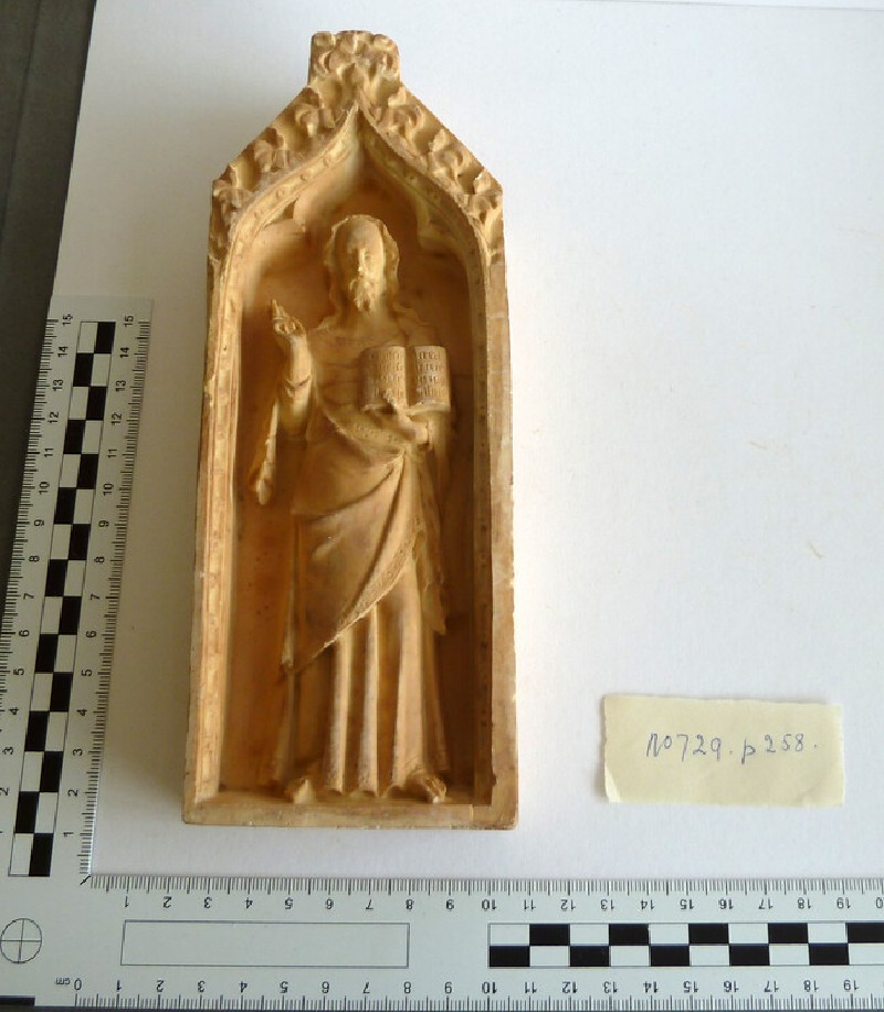 Plaster cast of ivory relief
