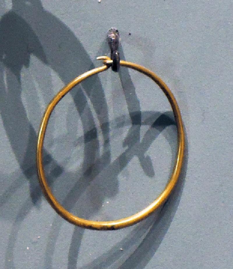 Gold hoop earring (AN1888.1201, AN.1888.1201, record shot)