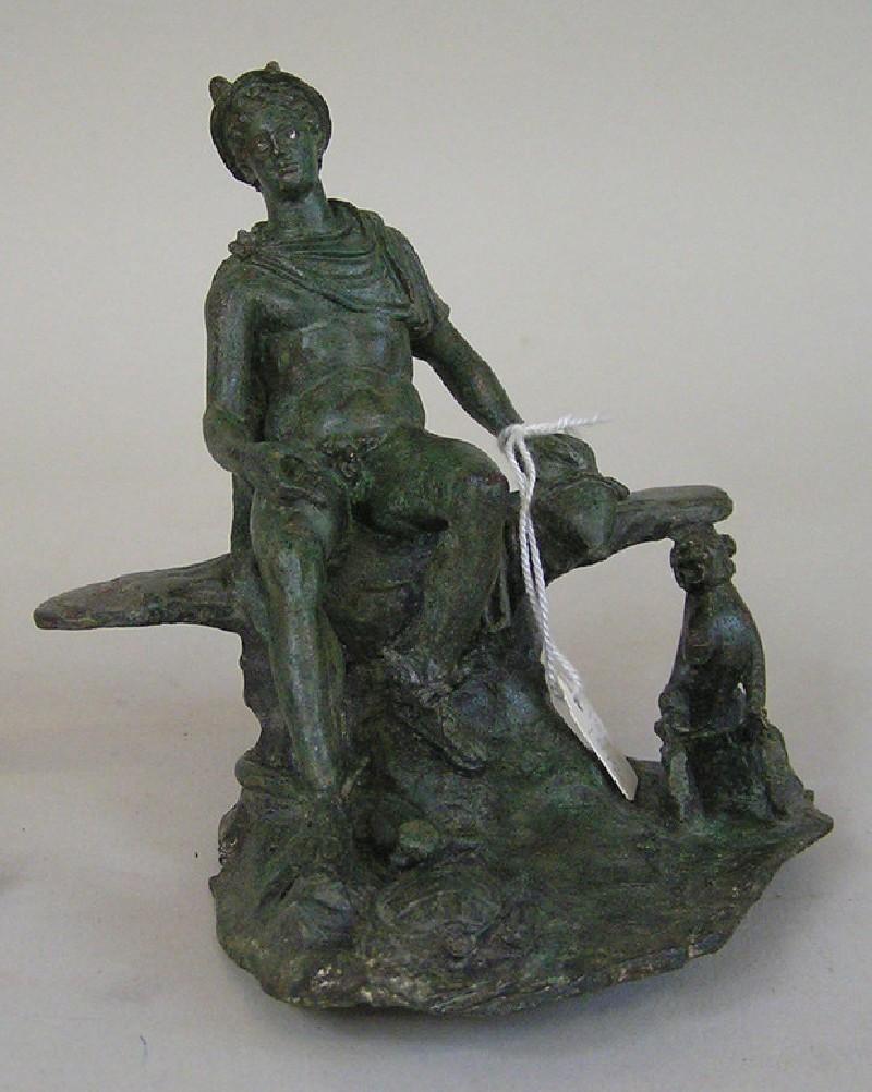 Bronze statuette of Mercury at rest