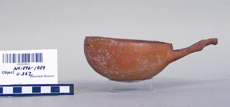 Red Polished IV bowl (wishbone handle)