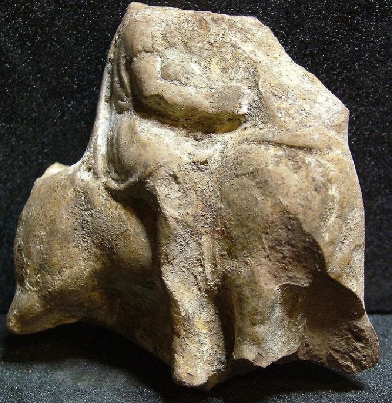 Horse and rider terracotta figurine plaque