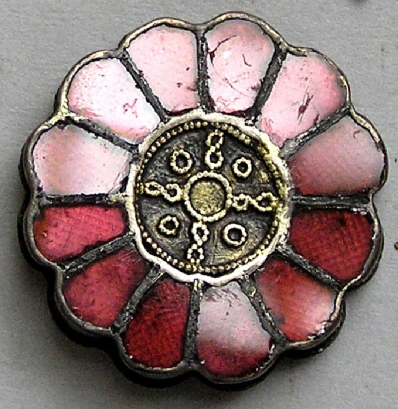 Merovingian silver rosette brooch