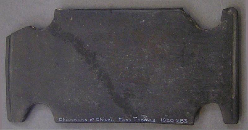 Plaque of bucchero ware (AN1920.283, AN.1920.283, record shot)