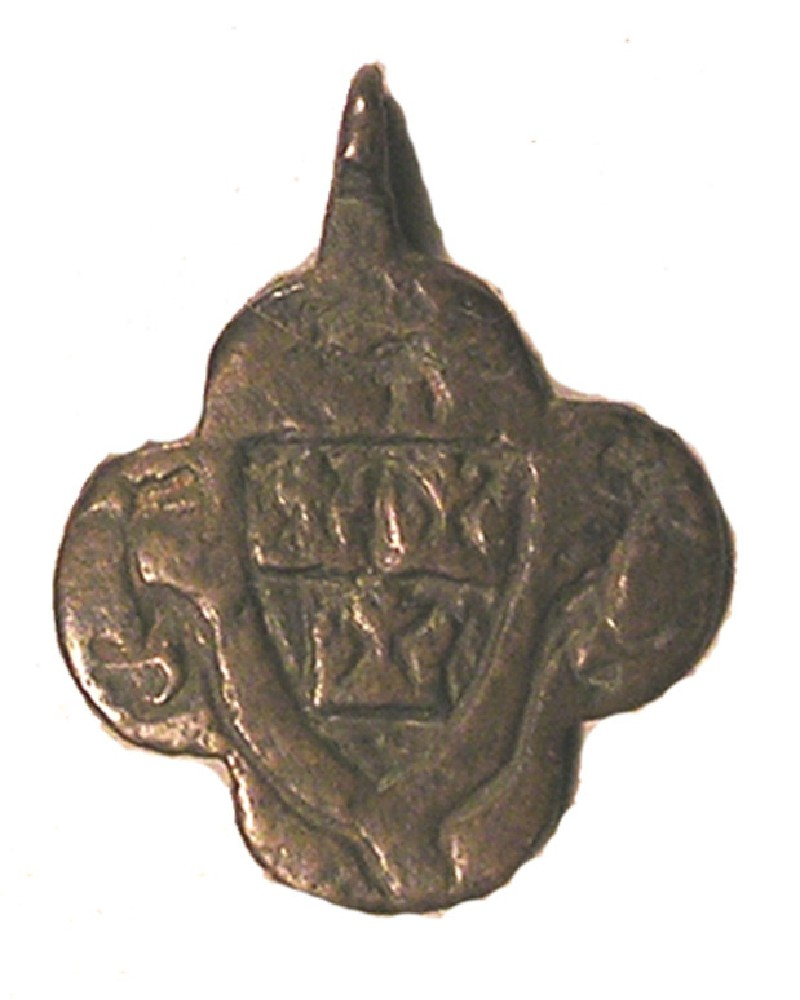 Armorial pendant possibly displaying the Arms of Ely